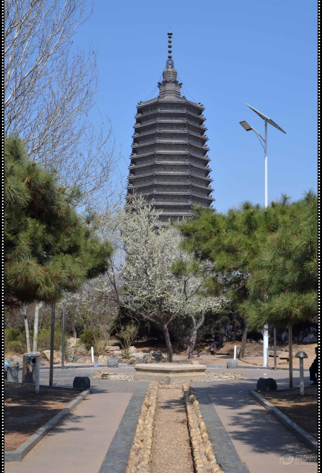 这塔还有个古老的传说:-春游锦城古塔公园图片