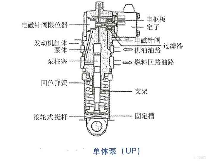 单体泵结构如图所示