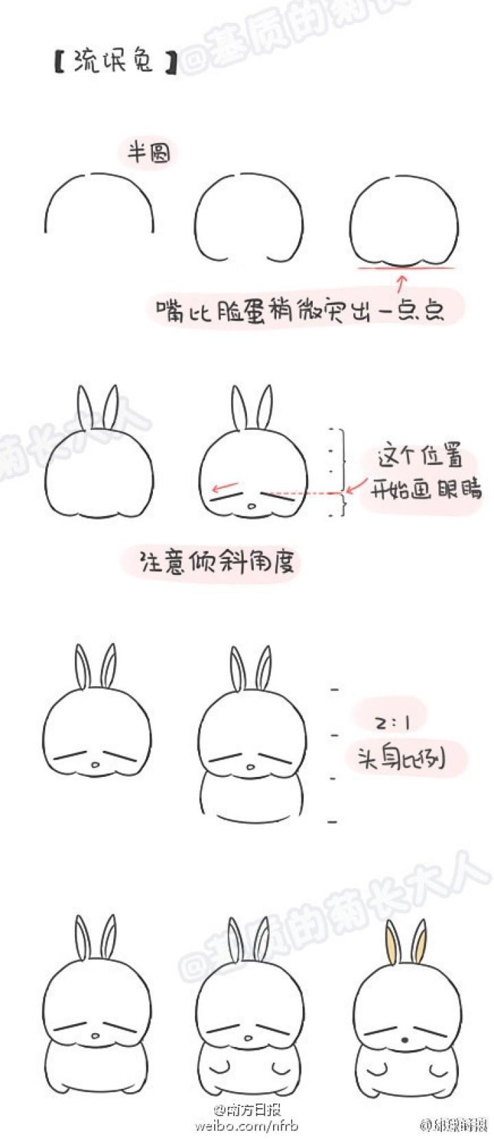 简单可爱的龙猫简笔画-简单易画的可爱图片,简单绘画可爱卡通人物