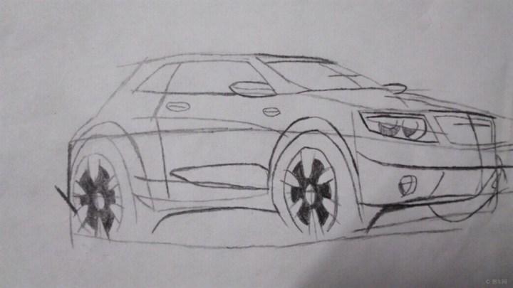 汽车内部结构图手绘