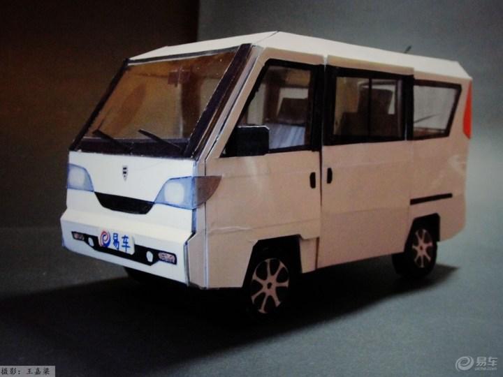 【【模型达人季】纯手工制作纸质汽车模型——哈飞