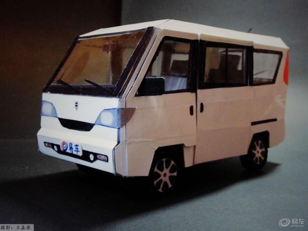 【【模型达人季】纯手工制作纸质汽车模型--哈飞·中意】_汽车模型论坛图片集锦_汽车论坛-易车网