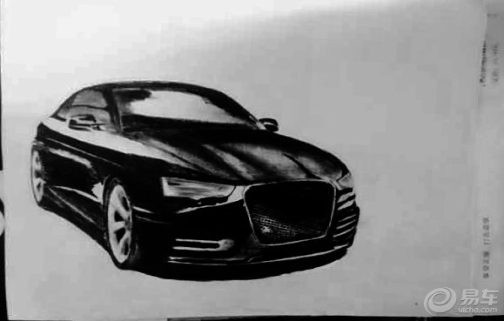 【手绘兰博基尼,还有美式大肌肉,还有奥迪】_画汽车