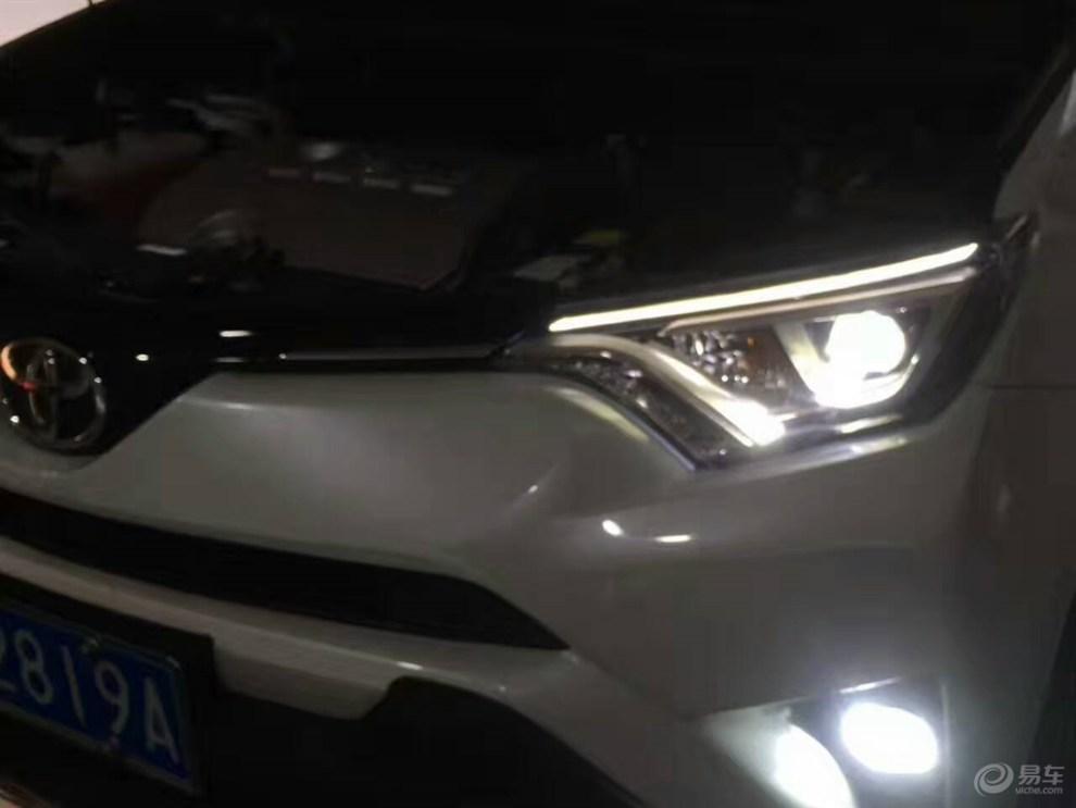 丰田rav荣放4卤素灯升级led高配大灯日行灯