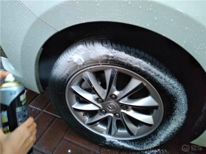 【吉林市长安车友会】使用轮胎蜡为小七轮胎保养上光