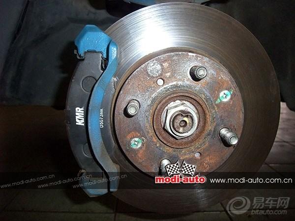 总体来说:kmr刹车皮刹车灵敏,微粒少,噪音低,寿命暂时不清楚.