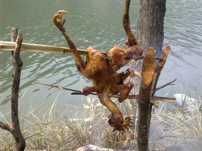 丿野外求生--钓鱼.烤鸡图片