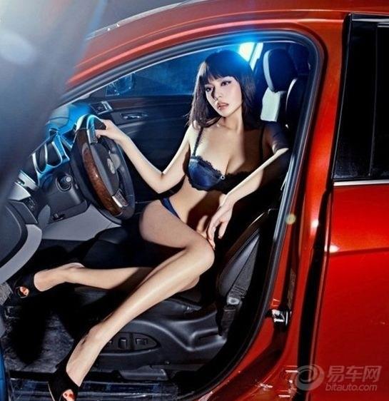 【高挑车模车内激情诱惑】_大嘴八卦图片集锦_汽车-网