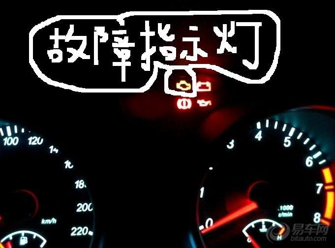 请教:关于仪表盘故障指示灯的问题】_凯越论