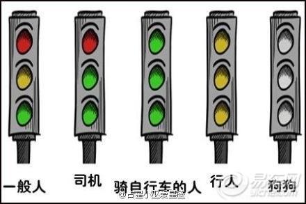 不同人眼中的红绿灯~ !
