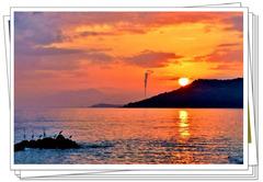 【手机拍风景2】海边拍日落 让日落的余晖留下美好的回忆