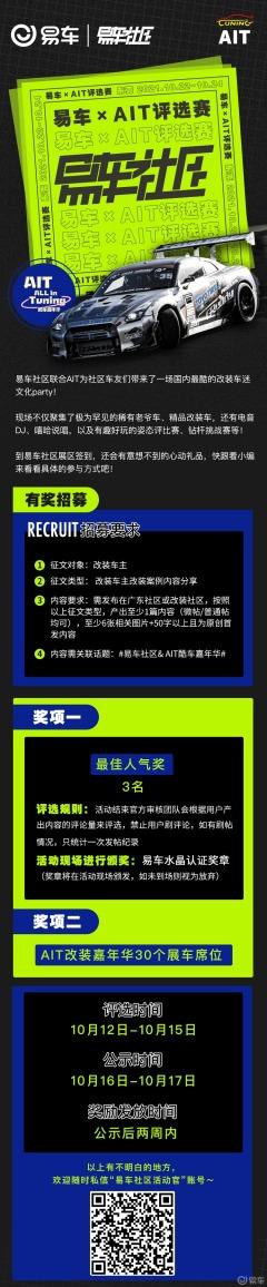 【社区活动】易车×AIT评选赛