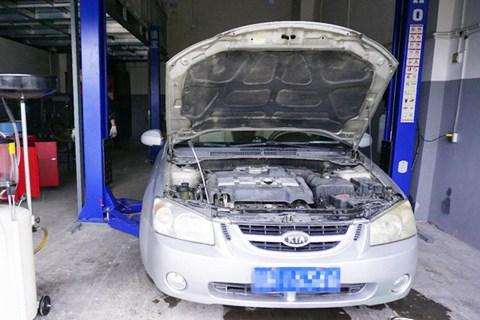 起亚赛拉图发动机冷却系统故障的维修分享作业