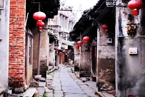 漓江边上的大圩古镇,沉载着旧时光的风采
