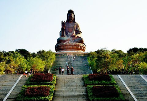 【广东深度游6】佛山西樵山观音圣像-世界最大铜质佛像