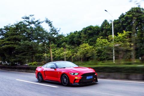 美式肌肉车的红色激情,记录和GT在一起的周末