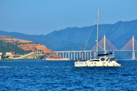 【十一海边游1】十里银滩海边的风景和傍晚的日落