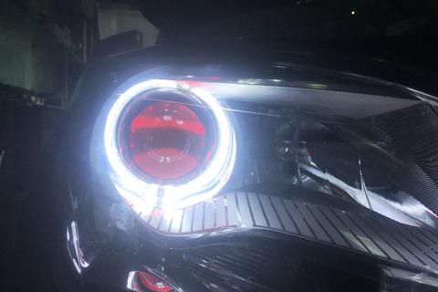 加装恶魔之眼,心爱的座驾升级灯光作业